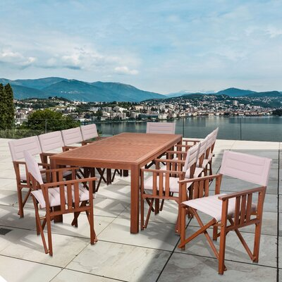 Elsmere Patio 11 Piece Dining Set