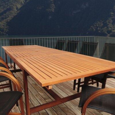 Bridgepointe Eucalyptus Wood Dining Table