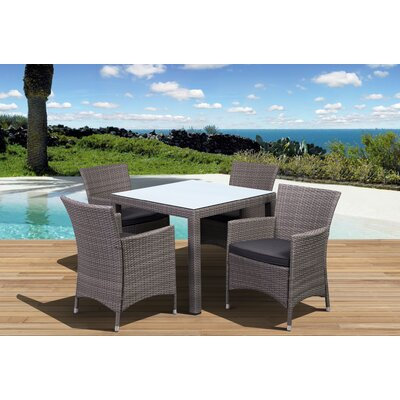 Aquia Creek 5 Piece Dining Set Color: Grey / Grey
