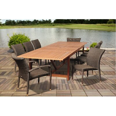 Search Distressed Eucalyptus Dining Set - Product picture - 2730