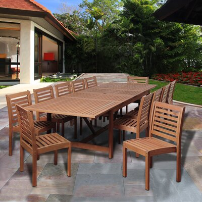 Tobago Eucalyptus 13 Piece Dining Set