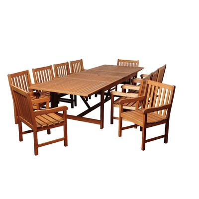 Alpha Eucalyptus 11 Piece Dining Set