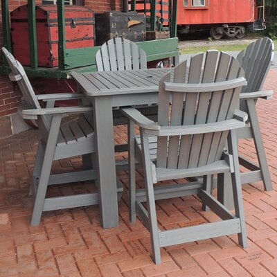 Deerpark 5 Piece Counter Height Dining Set Finish: Coastal Teak
