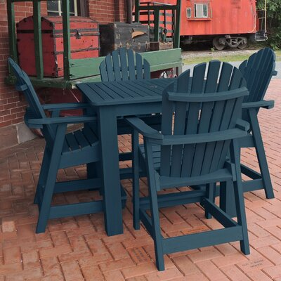 Deerpark 5 Piece Counter Height Dining Set Finish: Nantucket Blue