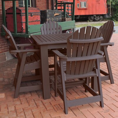 Deerpark 5 Piece Counter Height Dining Set Finish: Weathered Acorn