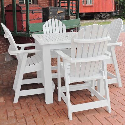 Deerpark 5 Piece Counter Height Dining Set Finish: White