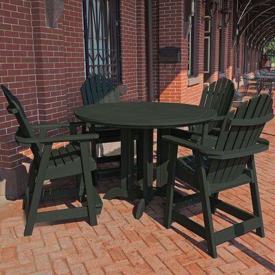 Deerpark 5 Piece Counter Height Dining Set Finish: Charleston Green