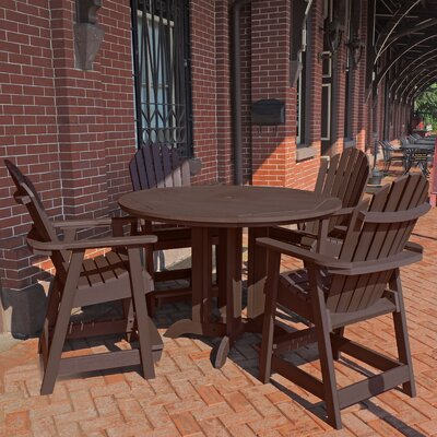 Shelton 5 Piece Counter Height Dining Set Finish: Weathered Acorn