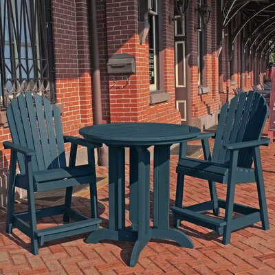Deerpark 3 Piece Counter Height Dining Set Finish: Nantucket Blue