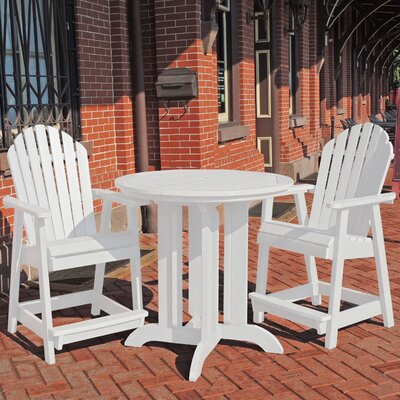 Deerpark 3 Piece Counter Height Dining Set Finish: White