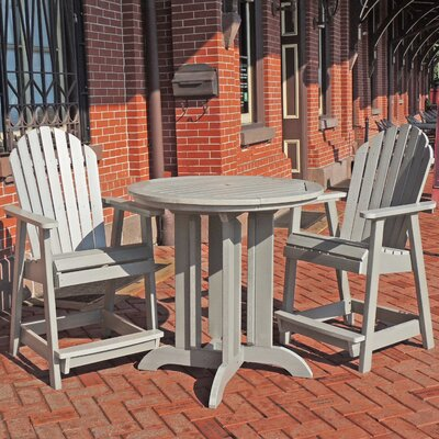Deerpark 3 Piece Counter Height Dining Set Finish: Whitewash