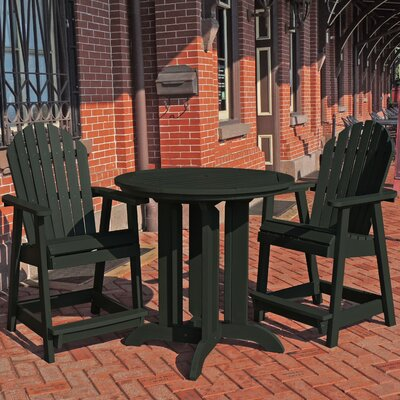 Deerpark 3 Piece Counter Height Dining Set Finish: Charleston Green