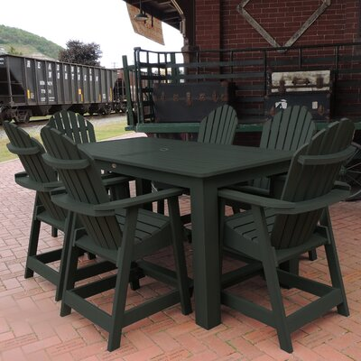 Shelton 7 Piece Counter Height Dining Set Finish: Charleston Green