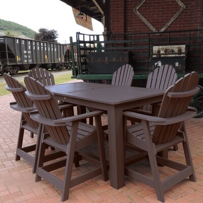 Deerpark 7 Piece Counter Height Dining Set Finish: Weathered Acorn