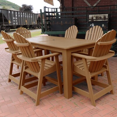 Shelton 7 Piece Counter Height Dining Set Finish: Toffee