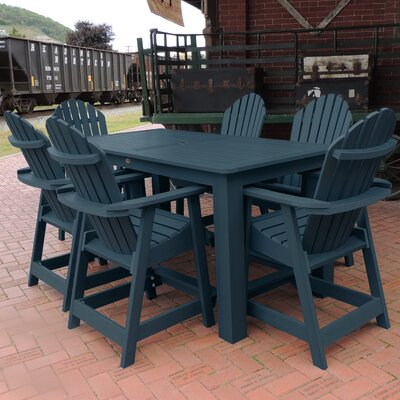 Deerpark 7 Piece Counter Height Dining Set Finish: Nantucket Blue