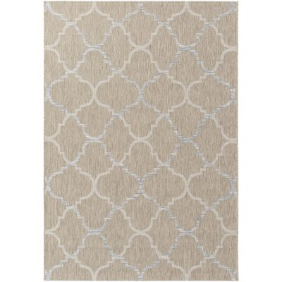 Chatsworth Neutral Indoor/Outdoor Area Rug Rug Size: 53 x 77
