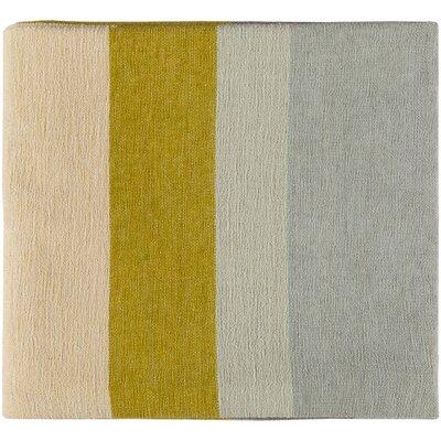 Christensen Throw Color: Mustard/Butter/Taupe/Light Gray