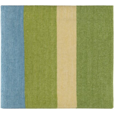 Williamsburg Throw Color: Lime/Bright Yellow/Sky Blue
