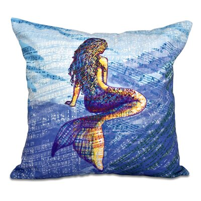 Cedarville Mermaid Geometric Print Outdoor Throw Pillow Size: 18 H x 18 W