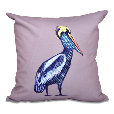 Cedarville Animal Print Outdoor Throw Pillow Size: 20 H x 20 W, Color: Lavender