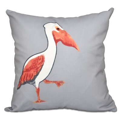 Rocio Pelican March Outdoor Throw Pillow Size: 18 H x 18 W, Color: Gray