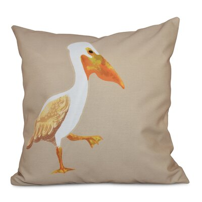 Cedarville Pelican March Outdoor Throw Pillow Size: 18 H x 18 W, Color: Taupe