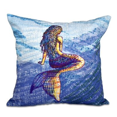 Cedarville Mermaid Geometric Print Throw Pillow Size: 18 H x 18 W