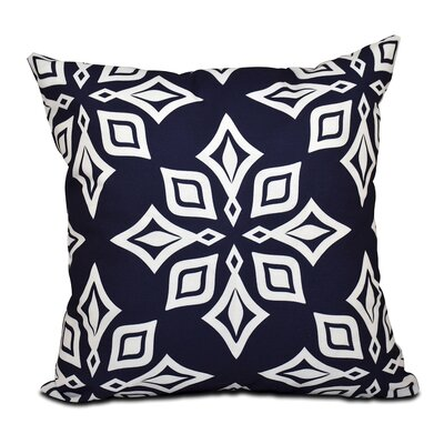 Cedarville Star Geometric Print Throw Pillow Size: 26 H x 26 W, Color: Blue