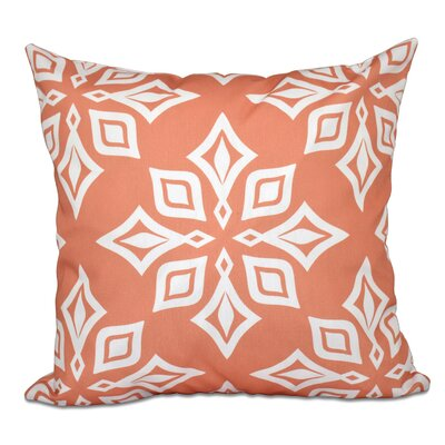 Cedarville Star Geometric Print Throw Pillow Size: 26 H x 26 W, Color: Coral