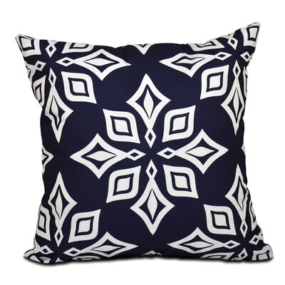 Cedarville Star Geometric Print Outdoor Throw Pillow Size: 18 H x 18 W, Color: Navy Blue