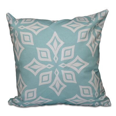 Cedarville Star Geometric Print Outdoor Throw Pillow Size: 18 H x 18 W, Color: Aqua