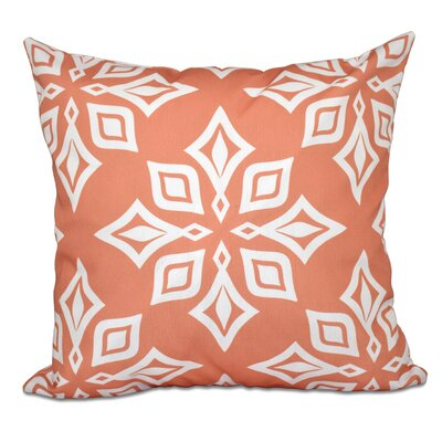 Cedarville Star Geometric Print Outdoor Throw Pillow Size: 18 H x 18 W, Color: Coral