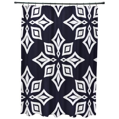 Cedarville Star Geometric Print Shower Curtain Color: Navy Blue