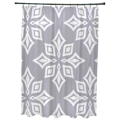 Cedarville Star Geometric Print Shower Curtain Color: Gray