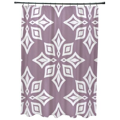 Cedarville Star Geometric Print Shower Curtain Color: Lavender