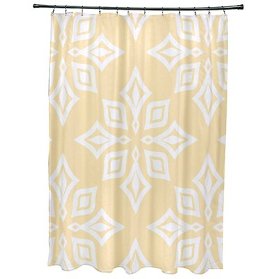 Cedarville Star Geometric Print Shower Curtain Color: Yellow