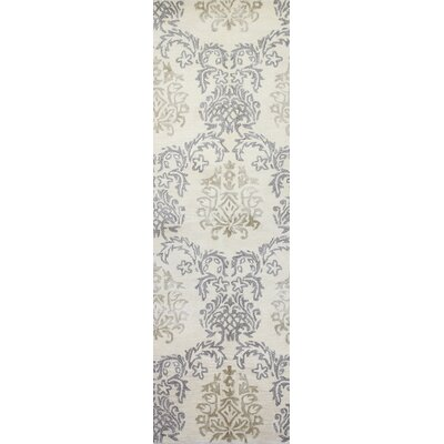 Winterbridge Hand-Tufted Ivory Area Rug Rug Size: Runner 26 x 8