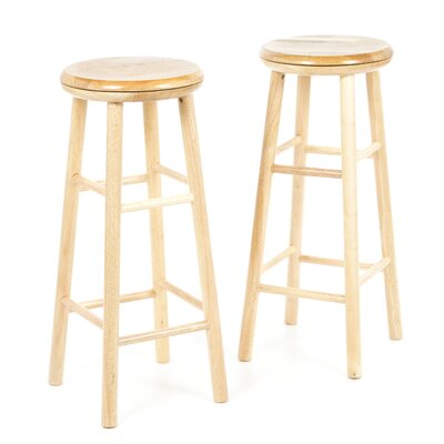 Wynyard White 30 Bar Stool Finish: Beechwood
