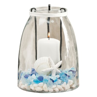Bettrys Lighting Glass and Iron Jar HLDS4375 40849914