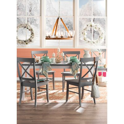 Lehigh Acres 7 Piece Dining Set Finish: Grey
