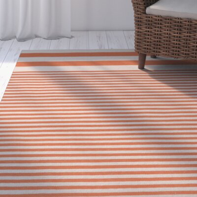 Kinslee Rust Stripe Area Rug Rug Size: Rectangle 8 x 11