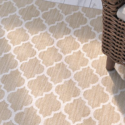 Central Volusia Beige Indoor/Outdoor Area Rug Rug Size: 10 x 14