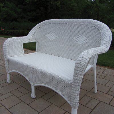 Kingsmill Traditional Loveseat Finish: White