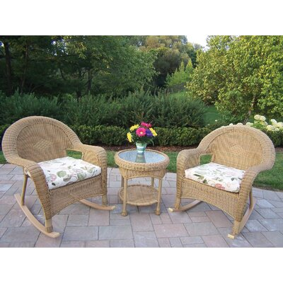 Kingsmill 3 Piece Rocker Seating Group Set Fabric: Floral