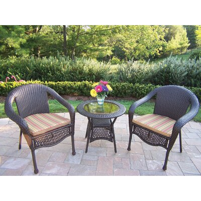 Kingsmill 3 Piece Lounge Seating Group Set with Cushion Fabric: Green