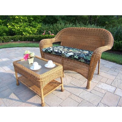 Kingsmill 2 Piece Loveseat & Table Set with Cusion