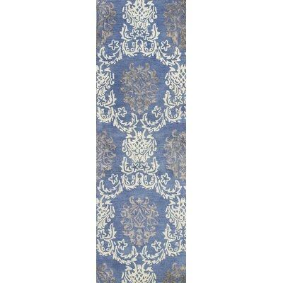 Harcourt Hand-Tufted Denim Area Rug Rug Size: Runner 26 x 8