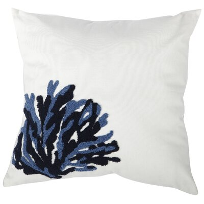Madilynn Embroidered Throw Pillow Color: Navy