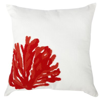 Madilynn Embroidered Throw Pillow Color: Red